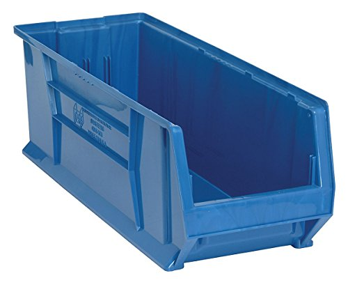 Quantum QUS973 Plastic Storage Stacking Hulk Container, 30-Inch by 11-Inch by 10-Inch, Blue, Case of 4 by Quantum Storage Systems