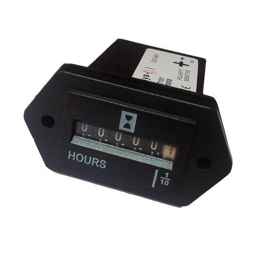 Neecooler Hour Meter DC 10V-80V Mechanical Hourmeter Gauge f