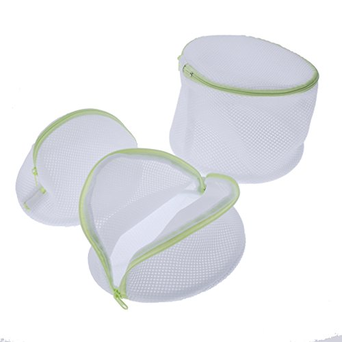 Andux Land Home Essential Laundry Mesh Wash Bag Set with Zipper (6 Pieces)- Multipurpose Travel Set - 1 Large ,1 Medium, 1 Small, 3 Bra Bags XYD-01 by Andux Land (Image #3)