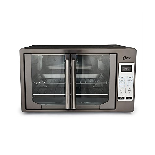 Oster TSSTTVFDDG-DS Black Stainless Steel Collection French Door Oven, Extra Large,