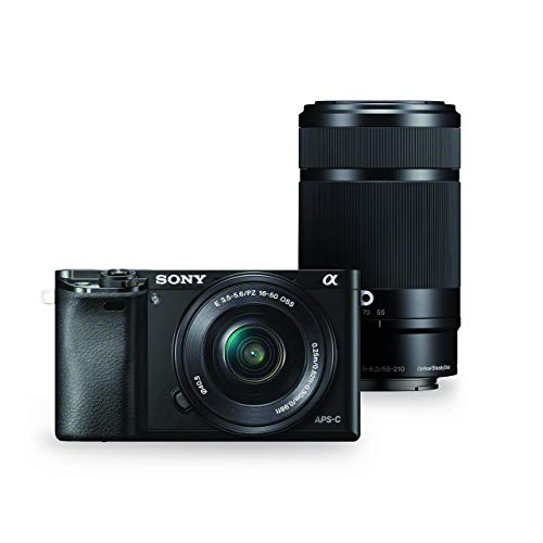 Sony Alpha a6000 Mirrorless Digital Camera w/ 16-50mm and 55-210mm Power Zoom Lenses (Certified Refurbished) For Sale