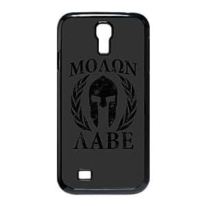 Molon Labe Spartan Trojan Helmet Laurels Samsung Galaxy S4 9500 Cell Phone Case Black Phone Accessories JV291202