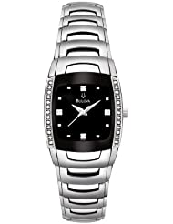 Bulova Womens 96R40 Diamond Accented Watch