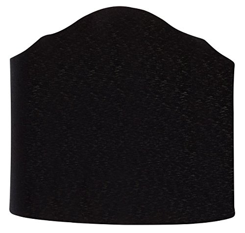 (Upgradelights 6 Inch Wall Sconce Clip on Shield Lamp Shade with Scalloped Design (Black))