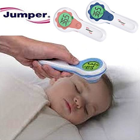 Amazon.com : Jumper Infrared Non Contact Forhead / Body / Liquid / Room Temperature Thermometer - (Pink) : Baby