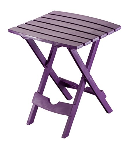 - Adams Manufacturing 8500-12-3900 Quik Fold Side Table, Bright Violet