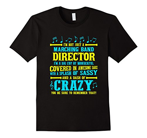 Men's FUNNY MARCHING BAND DIRECTOR T-SHIRT Music Band Teacher Gift Large Black (Marching Band Halloween Costume)