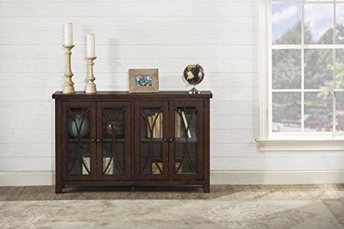 - Hillsdale Bayside Four (4) Door Cabinet - Rustic Mahogany