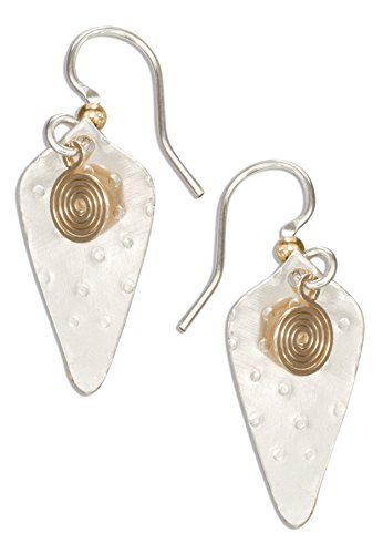 Filled Cones (Sterling Silver and 12 Karat Gold Filled Cone Shaped Dangle Earrings with Spiral)