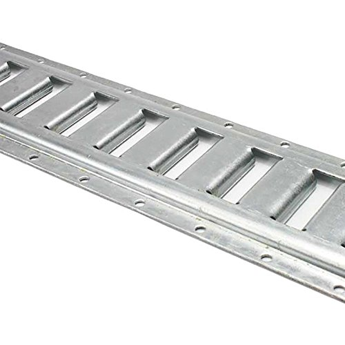8 Foot Horizontal E Track Rails for Interior Van Trailer Tie Downs | Galvanized 12 Gauge Steel | 2 Pack