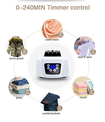 Clothes Dryer Portable Drying Rack for Laundry 1200W - 33 LB Capacity Energy Saving (Anion) Folding Dryer Quick Dry & Efficient Mode Digital Automatic Timer with Remote Control