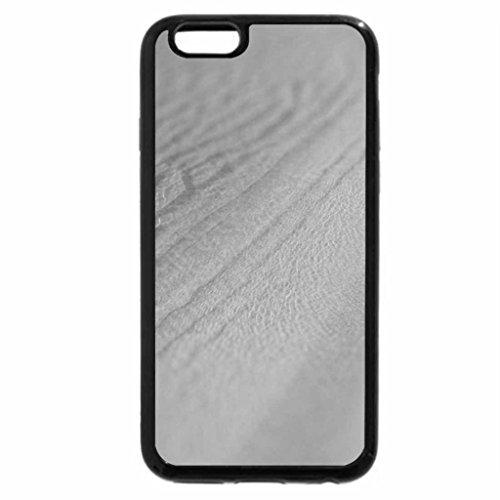 iPhone 6S Case, iPhone 6 Case (Black & White) - Ocean Ripples over Sandy Beach