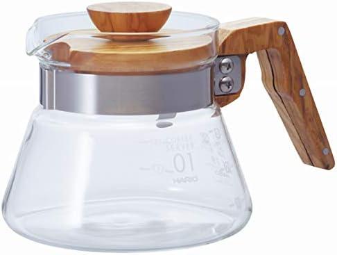 Hario VCWN-40-OV Coffee Server Wood-400ml, 400 ml Olive Wood