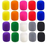 20 Pack Colorful Foam Microphone Cover Top Grade