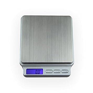Bureze - Báscula digital portátil (tamaño pequeño, 0,1 g, 2 kg, 3 kg): Amazon.es: Hogar
