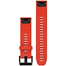 Garmin 010-12496-03 Fenix 5 Quick fit 22 Watch Band - Flame Red Silicone