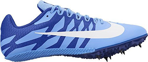 NIKE Women's Zoom Rival S 9 Track and Field Shoes (12, Blue/White) from NIKE