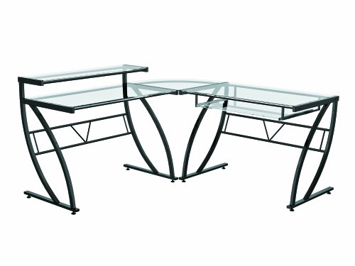 Z-Line Belaire Glass L-Shaped Computer Desk by Z-Line Designs