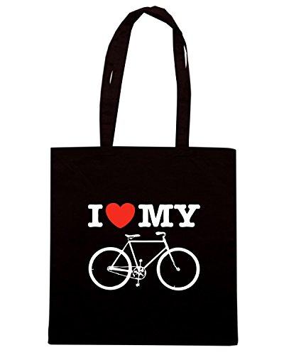 T-Shirtshock - Bolsa para la compra TLOVE0110 i love my bicycle Negro