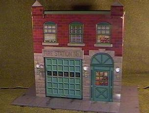 QHG3617 Hallmark Fire Station #1 Kiddie Car Corner 1999 Kiddie Car Classics LE