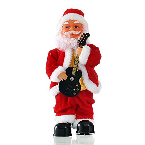 - Botrong Vintage Animated Guitar Musical Dancing Christmas Santa Claus (C)