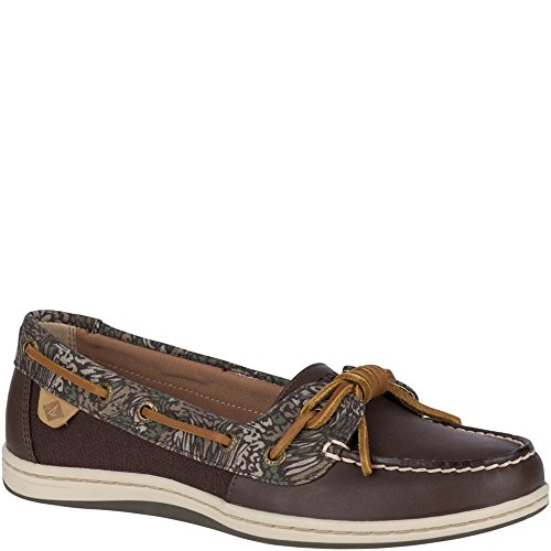 Sider Tie Top Sperry Leather (Sperry Top-Sider Barrelfish Animal Print Boat Shoe)