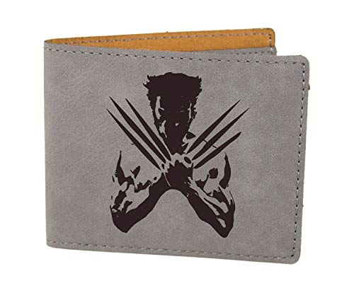 X-Men Wolverine Laser Engraved Vegan Leather Wallet, Personalized Custom Gifts