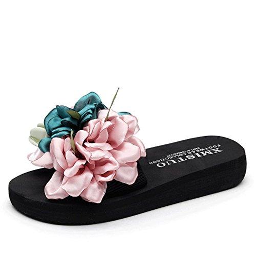 sandali UK spessa dimensioni per 0 6 spiaggia suola con estive donna Indossa Pantofole O54RqU