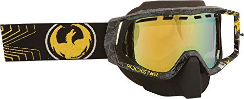 (Dragon Alliance Rockstar Black Adult Vendetta Winter Sport Snowmobile Goggles Eyewear - Gold Ionized / One Size Fits All)