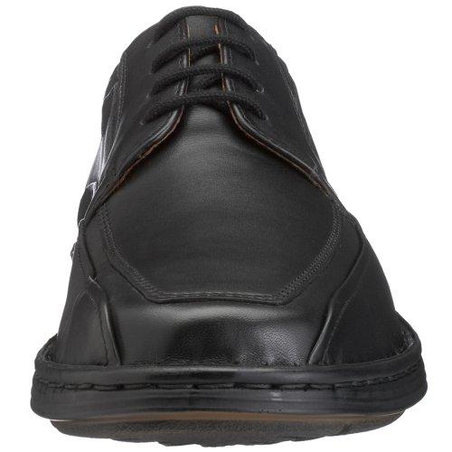 Josef Seibel Brian Herren Derby Schnürhalbschuhe | Komfort-Herrenschuhe aus Echtleder | Extra-weit Schwarz (600 schwarz)