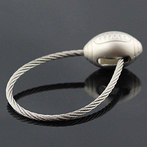 Maycom 3d Ball Model Keychain Sports Wire Rope Football Keyring Key Chain Ring Key Fob 84921