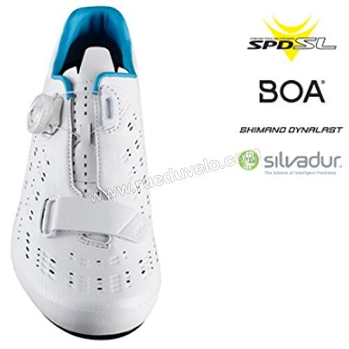 SHIMANO SHRP9PC370SW00 - Zapatillas ciclismo, 37, Blanco, Hombre