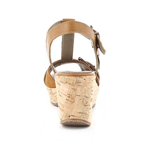 Cubanas Bombon410 - Sandalias para mujer Camel