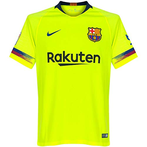 bcd75ddb5 Nike 2018-2019 Youth FC Barcelona Away Stadium Jersey (Volt) (YXL)