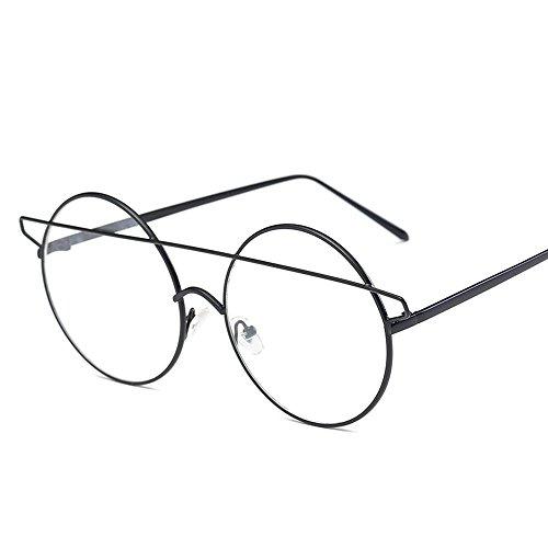Aoligei Lunettes de soleil tendance petit démon Dame européens et américains lunettes oeil de chat CcWASJ