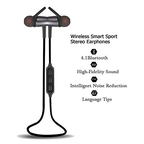 Wireless Sport Bluetooth Earphone 4 1 Magnetic Design Stereo Bass