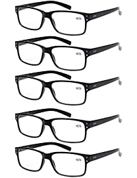 e59c2ecd00 Reading Glasses 5 Pairs Quality Readers Spring Hinge Glasses for Reading  for Men and Women