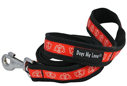 Cotton Web Dog Leash 4.5ft Long 1