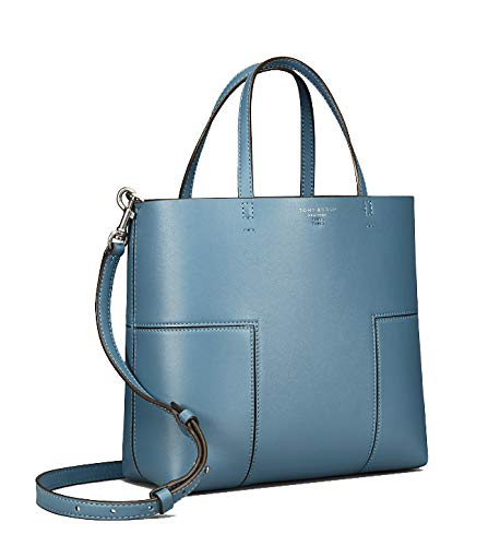 f13d3795ee3 Tory Burch Block-T Mini Tote 44614 Blue Yonder: Handbags: Amazon.com
