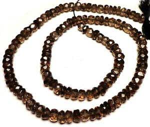 4.5 mm Gift For Her Smoky Quartz Faceted Rondelle Beads 18 Inches Natural Smoky Faceted rondelle Beads Handcrafted Jewelry Beads