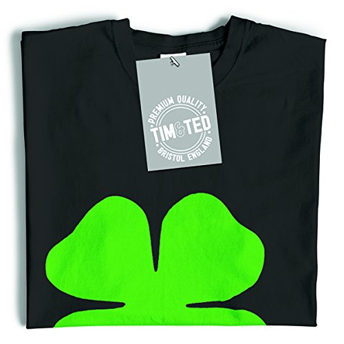 Rub Me Sono fortunato Shamrock fortuna dello slogan Irish Clover divertente T-Shirt Da Donna