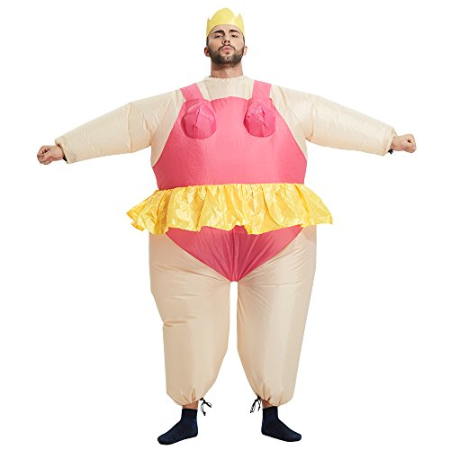 Ballerina Halloween Costume (TOLOCO - Inflatable Adult Fancy Dress Costume (Ballet))
