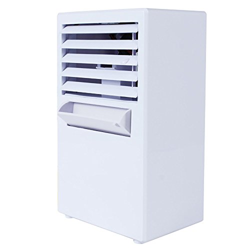 Dressffe Portable Air Conditioner Fan Mini Evaporative Air Circulator Cooler Humidifier, Three Wind Speed, Spray Cooling Mist, Air refreashing, Easy to Use (White) by Dressffe (Image #1)