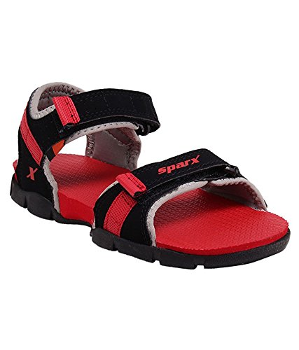 Black and Red Sandals (SS-109) (4 UK