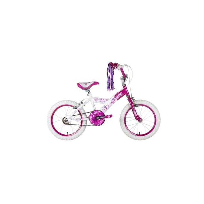 Sonic Glamour – Bicicleta para niña, tamaño 16″, color blanco / rosa