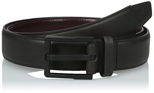 Kenneth Cole REACTION Men's 1 1/4 in. Buffalo Jean Belt, Black, 44