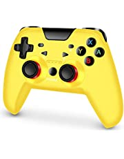 Switch Controller for Nintendo, RegeMoudal Switch Pro Controller Gamepads with Turbo & Adjustable Double Shock Function - yellow