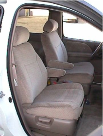 Durafit Seat Covers, SN1-R2 2004 Seat Covers for all 3 Rows of the Toyota Sienna 7 Passenger Van in Beige Automotive Twill.