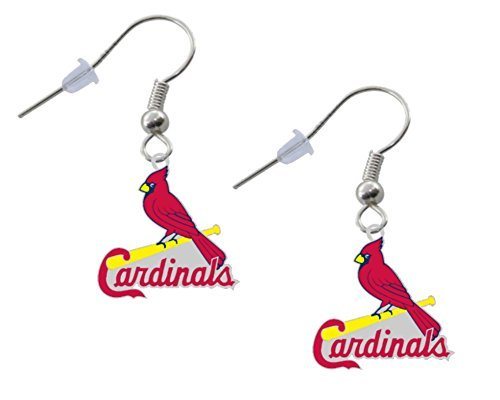 Final Touch Gifts St Louis Cardinals Bird Logo Earrings Pierced