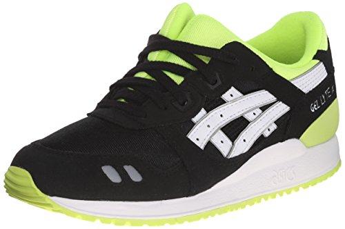ASICS Gel Lyte III GS Running Shoe , Black/White, 5 M US Big
